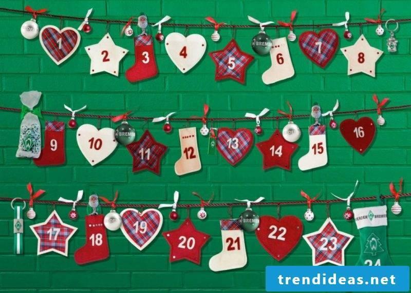 Create advent calendars yourself