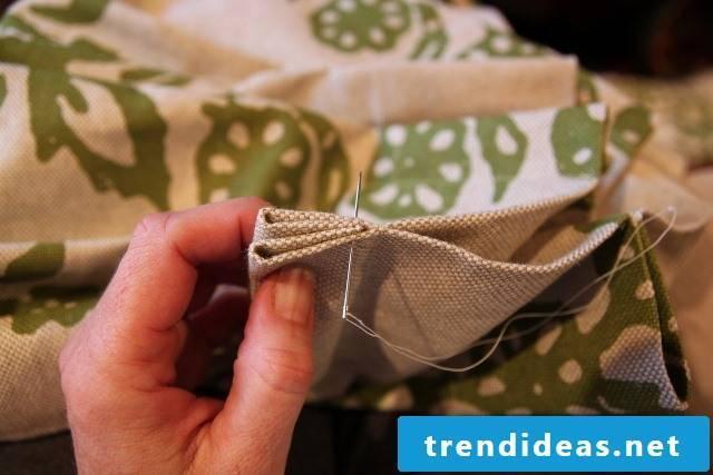 Curtain sew step