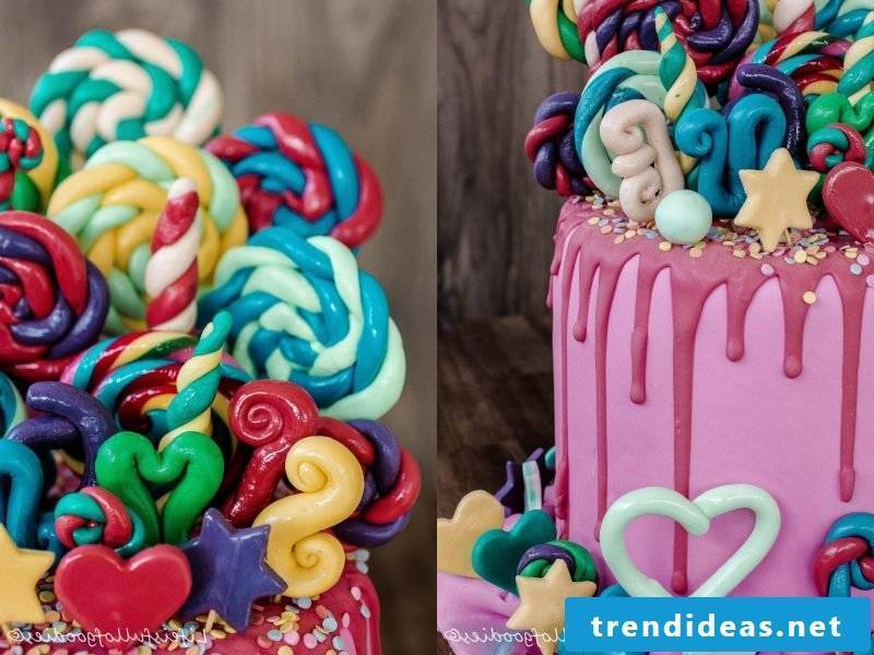 Fancy cake lollipops