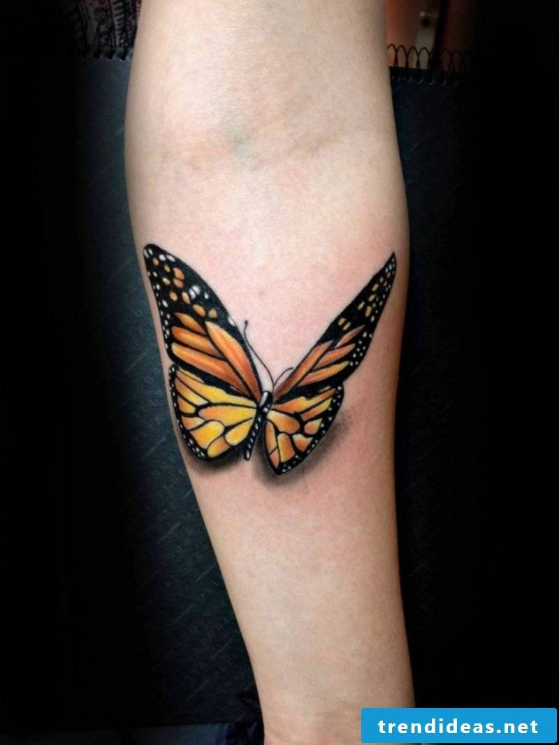 interesting butterfly tattoo arm