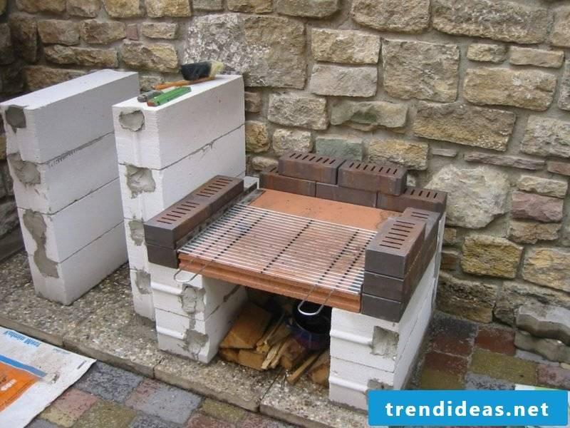 self-built barbecue
