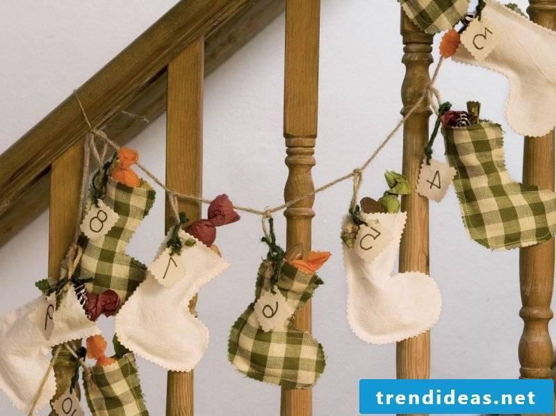 Advent calendar sewing boots art