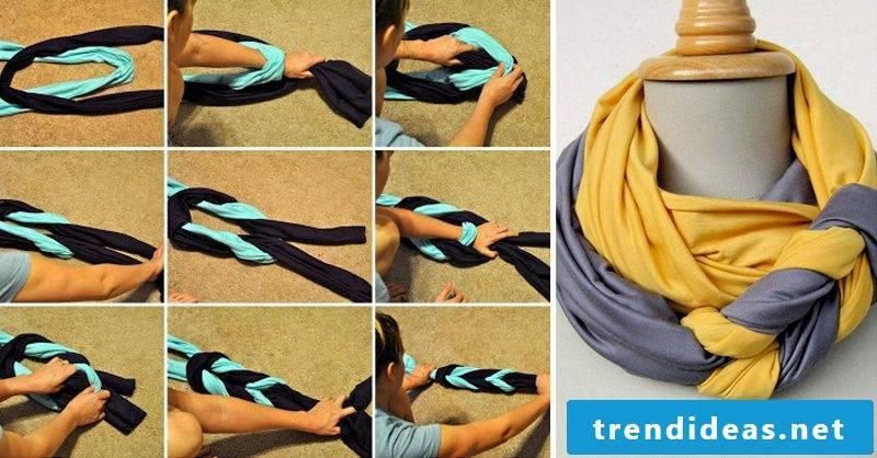 Loop scarf bind pigtails