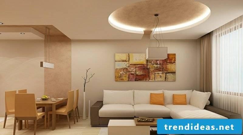 Ceiling living room lighting indirect
