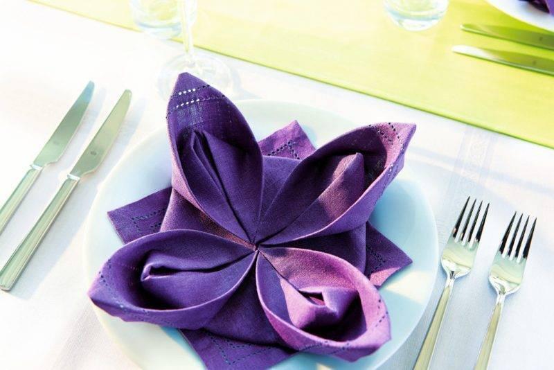 napkins wrinkle-lily purple