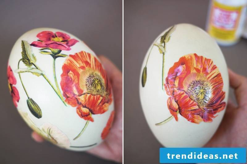 The sixth technique for Easter eggs without dyeing - the result