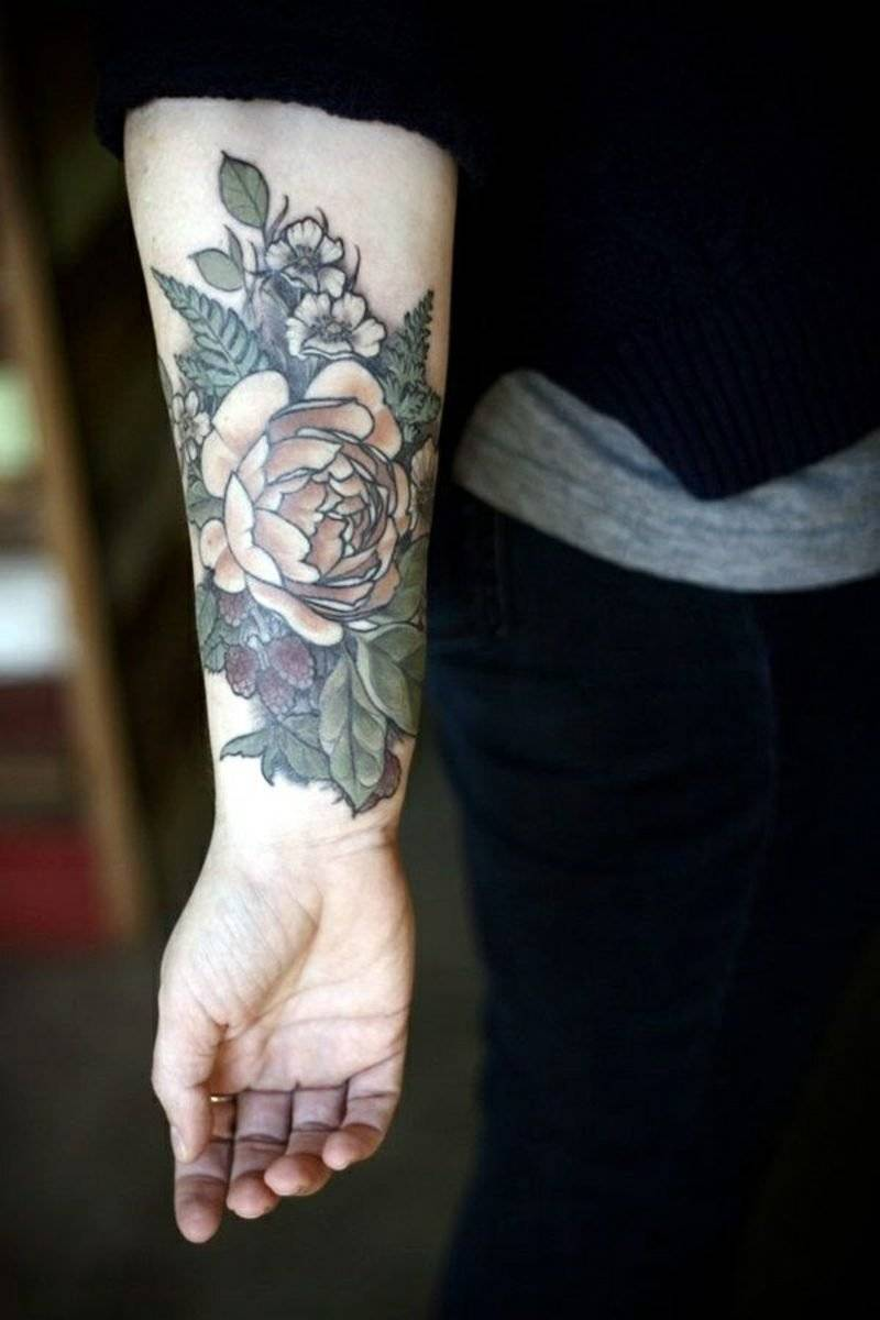 Realistic design of a rose in the hand