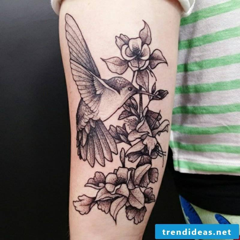 Tattoo hummingbird flower tattoo
