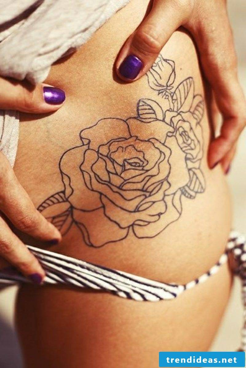 Flower tattoos are very common