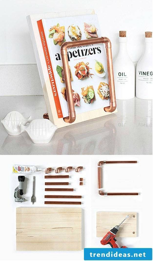 DIY cookbook stand - the perfect gift for your mother