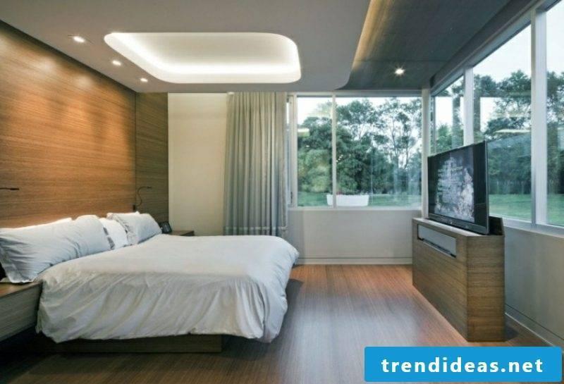 Ceiling lighting indirectly bedroom