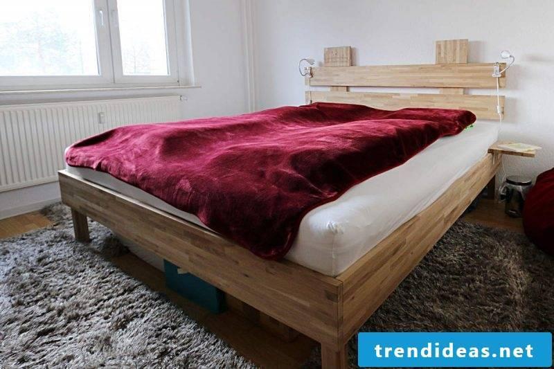 diy bed red