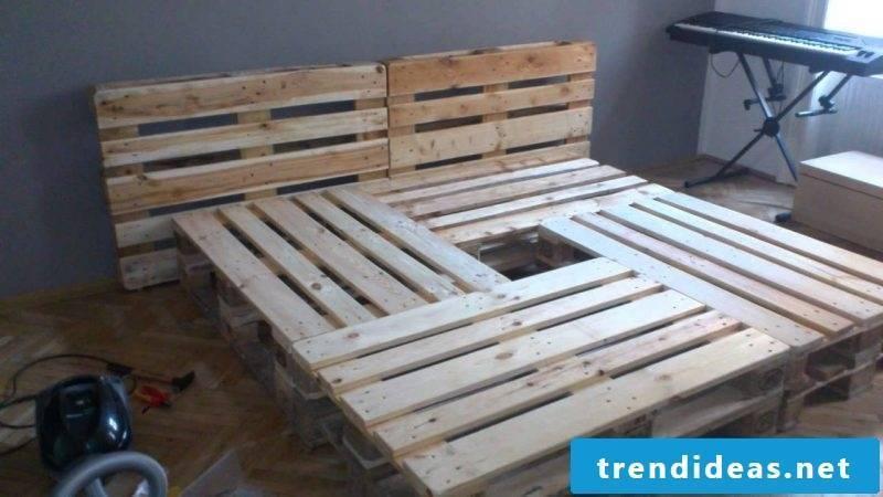 diy bed pallets