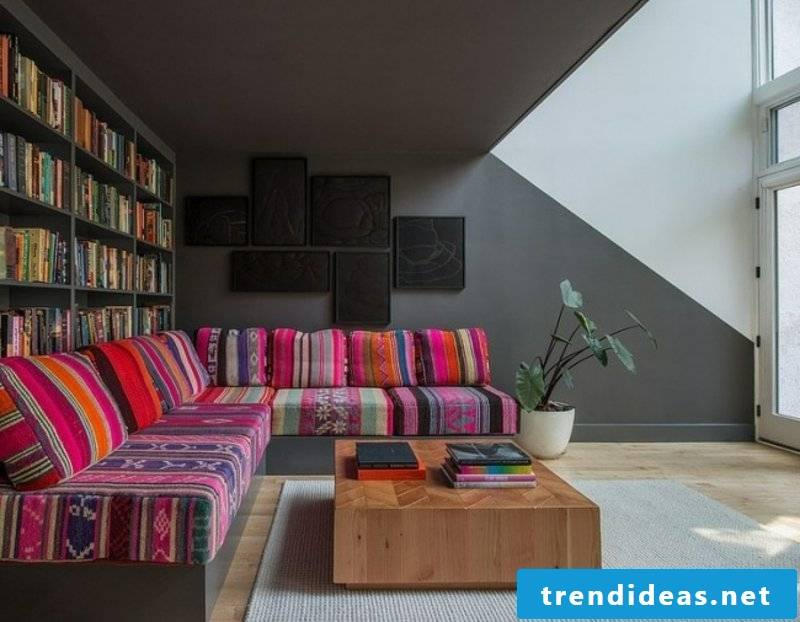 colorful living room couch