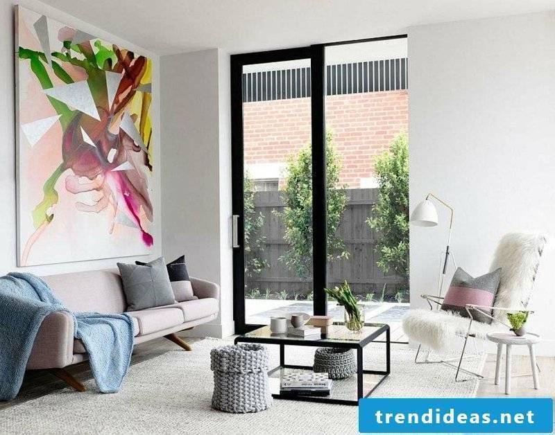 original painting living room design