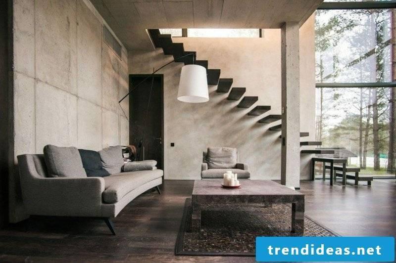 Living room design original staircase