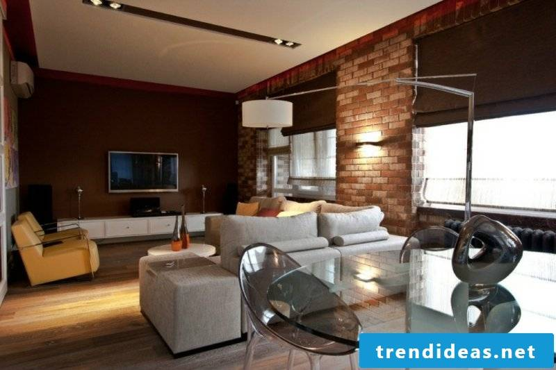 Living room with many features