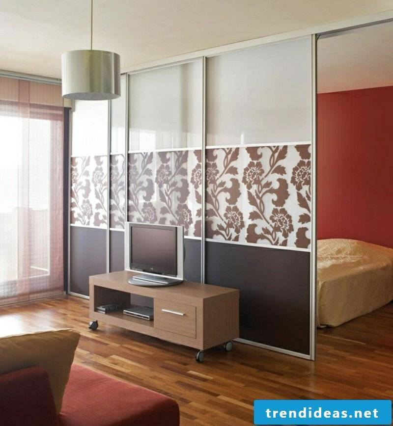 Glass doors for room separation