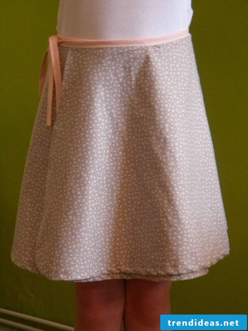 Sew on wrap skirt yourself