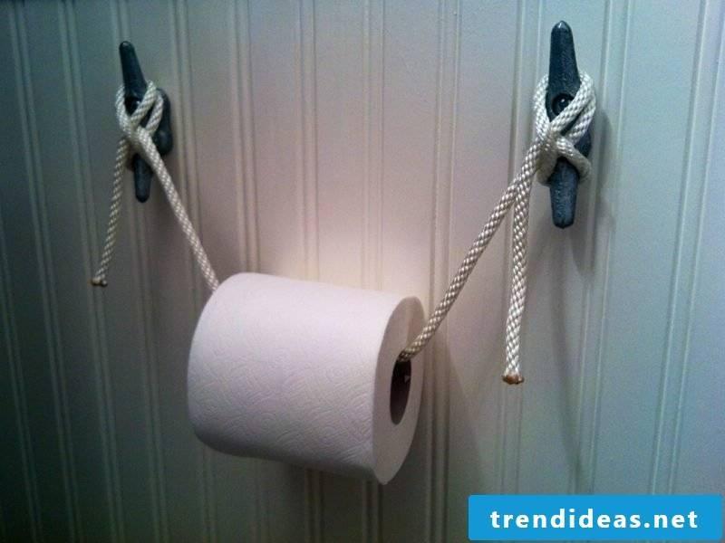 toilet paper holder maritime design