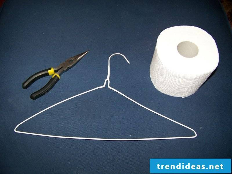 toilet paper holder from hangers