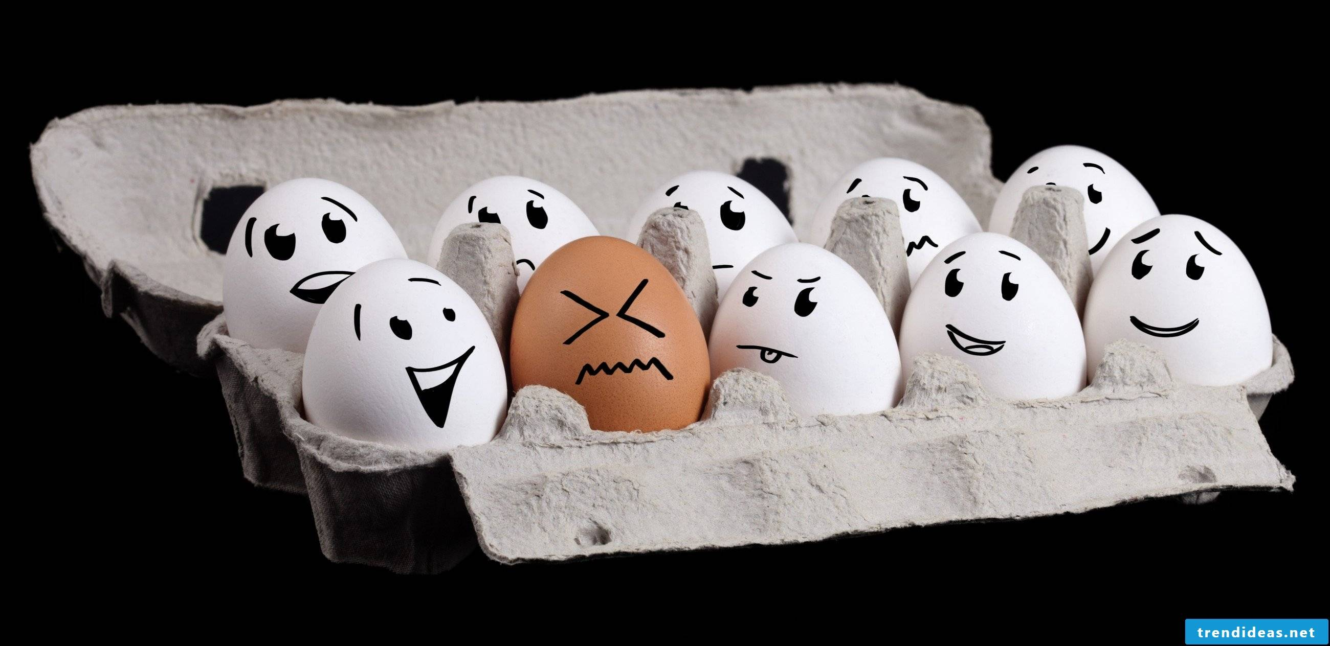 Do not miss the opportunity that Easter offers you and collect some stunning crafting ideas for funny egg faces.
