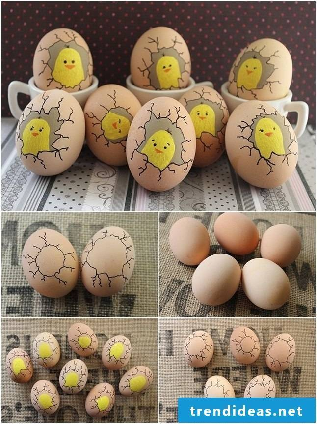 Color and decorate great ideas for Easter eggs