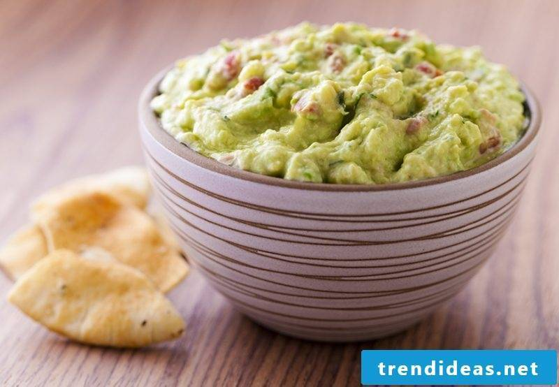 fingerfood cold guacamole