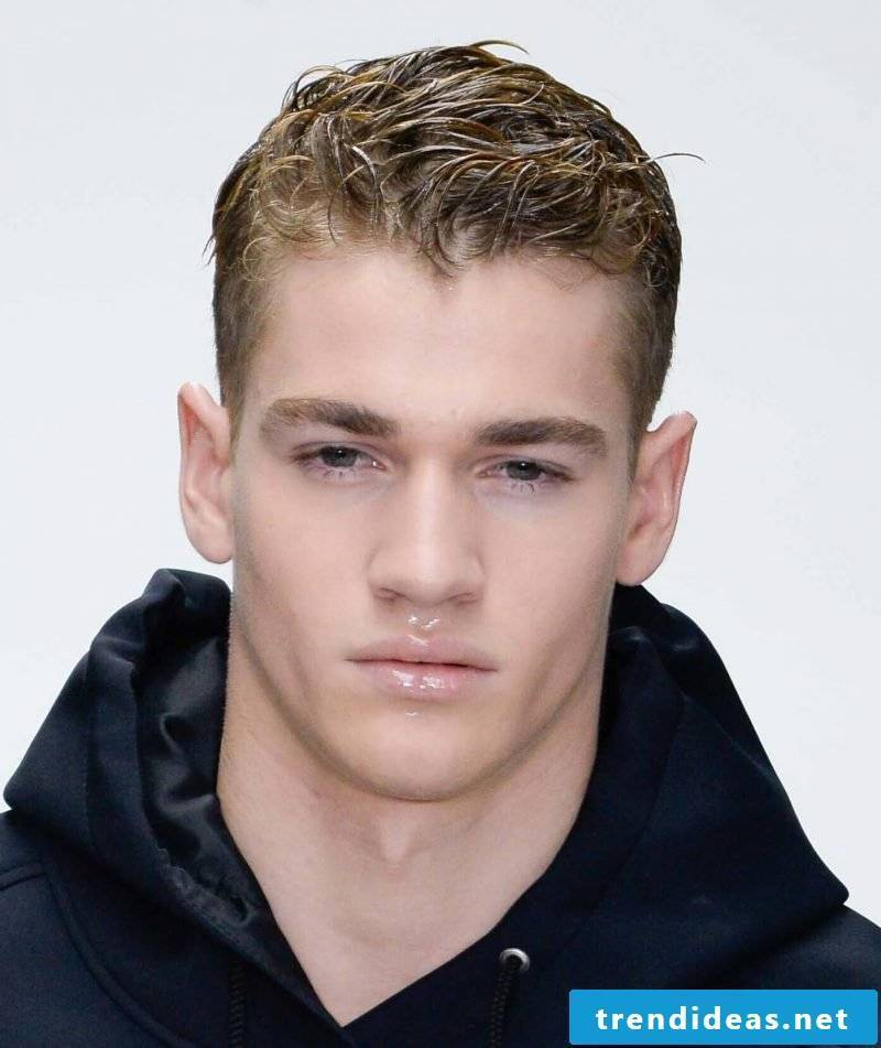 Men's Short Hairstyles Wet Look
