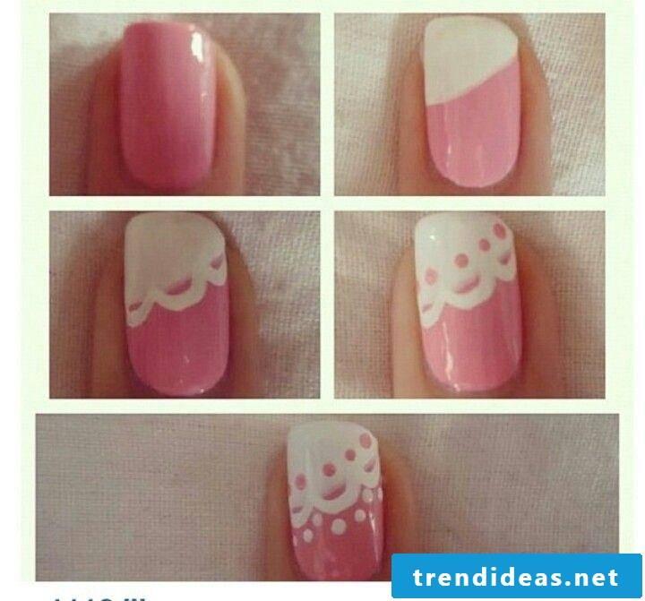 Fingernail motifs plain