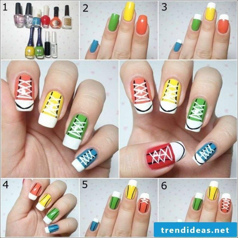 Fingernail motifs colorful
