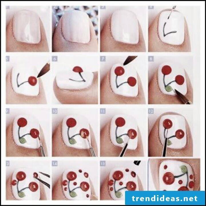 Fingernail motifs white