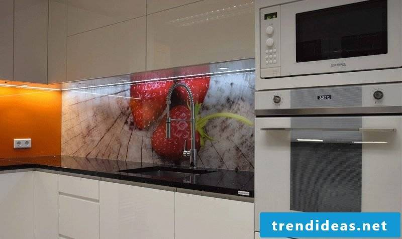 kitchen glass back wall stylish