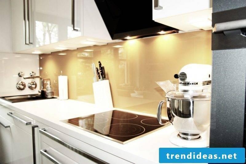 kitchen glass back wall bright