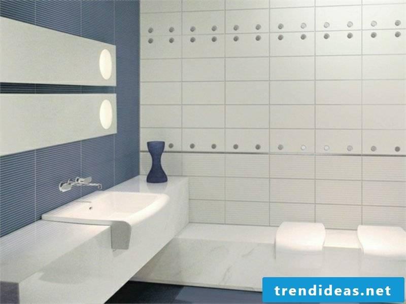 Bathroom with light tiles