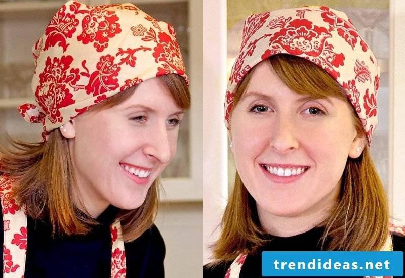 Headscarf tie styles pirate headscarf