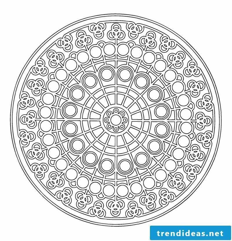 mandala templates center of the circle