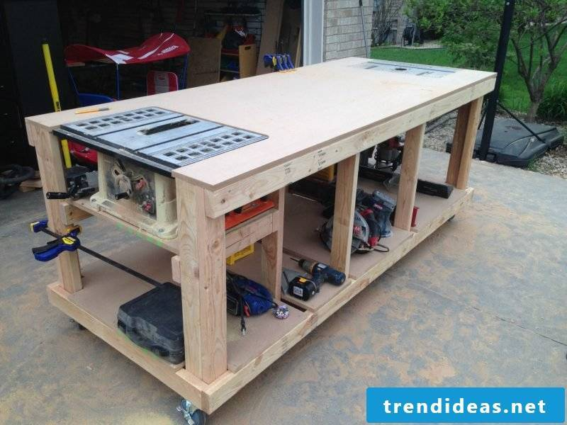 To taste, you can also add extras to your workbench