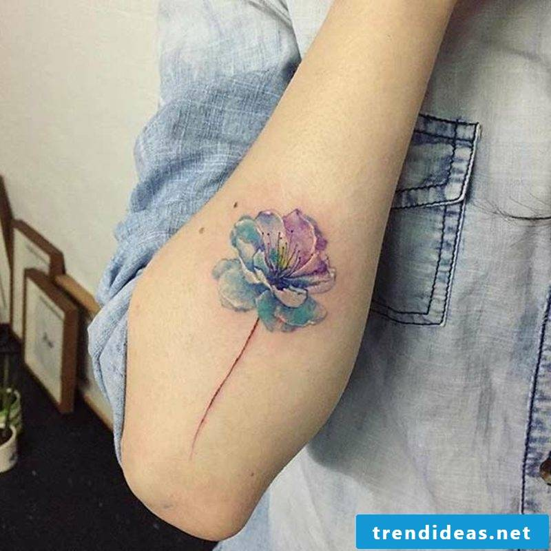 Tattoo Oldenburg flower watercolor modern
