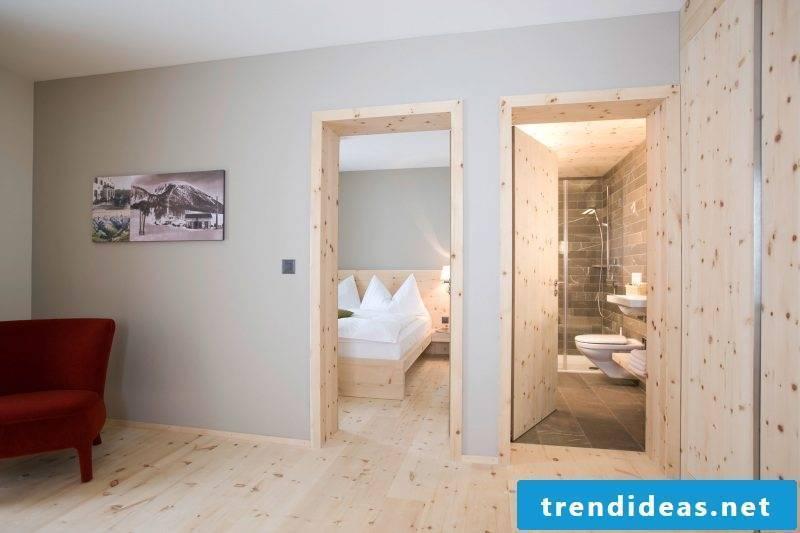 wood wall paneling bright