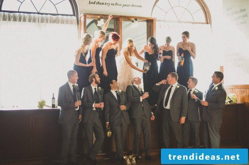 Wedding pictures with alcohol