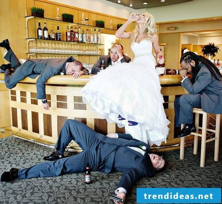 Wedding pictures drunk bride