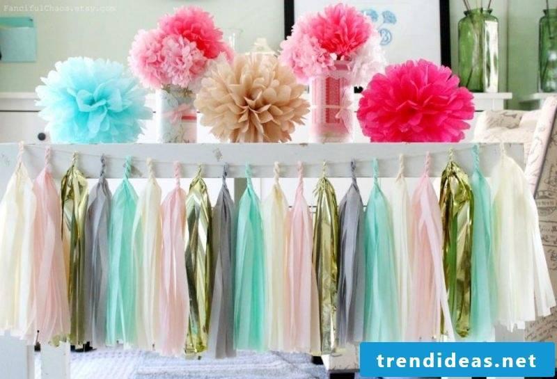baby shower decoration pompom