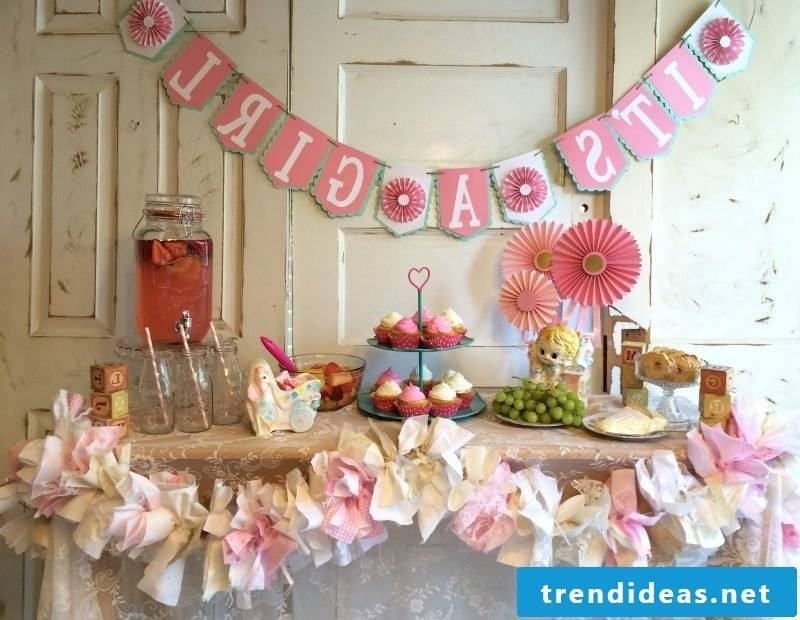 baby shower decor garland name