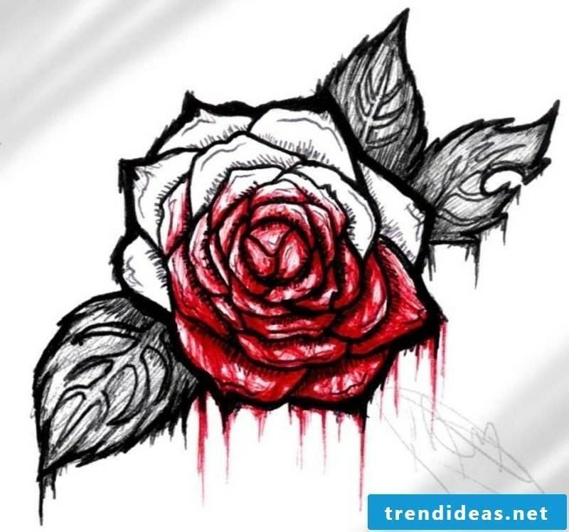 Tattoo templates for underarm Rose