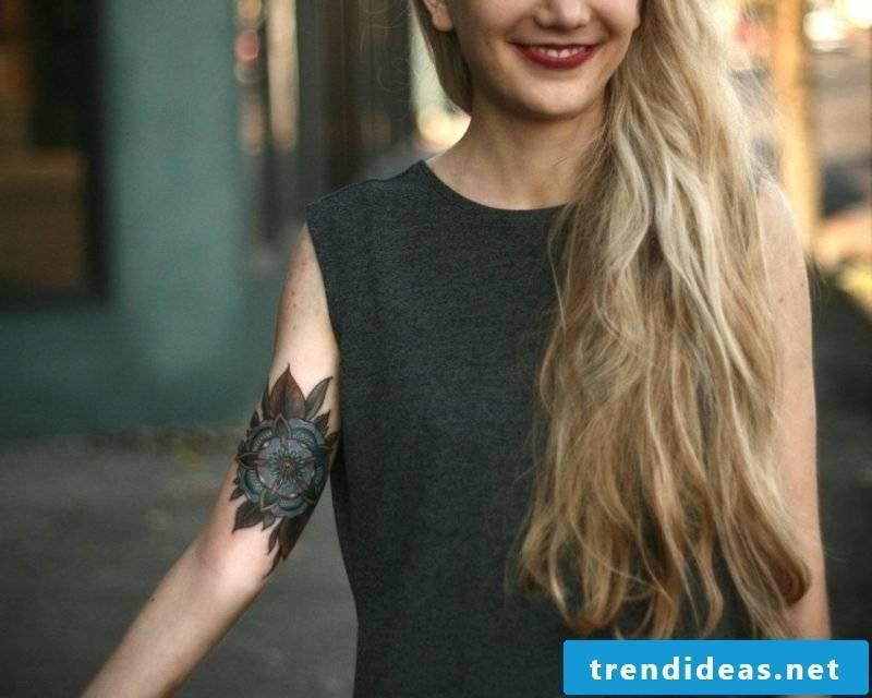 original tattoo flower forearm