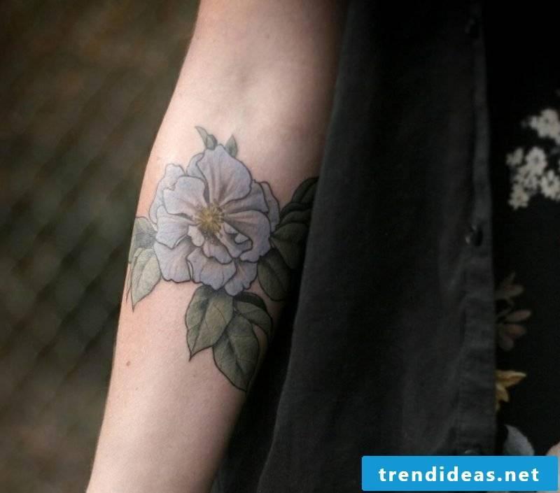 Tattoo forearm blue rose