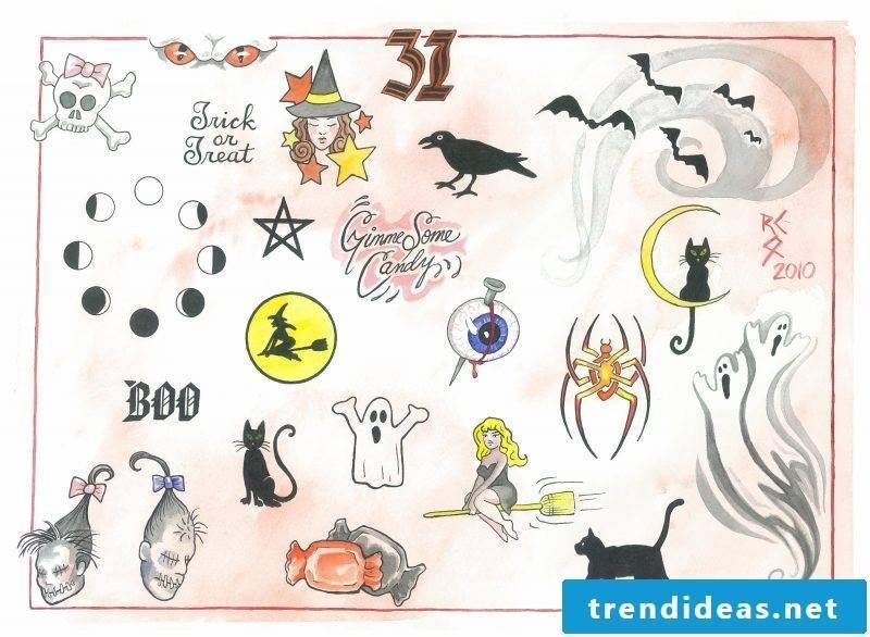 Tattoovorlage Halloween expressed