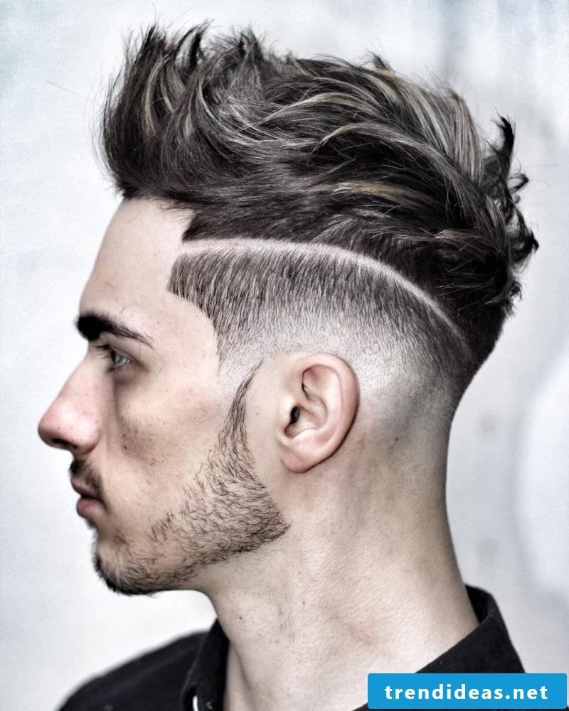 modern men's hairstyles horny