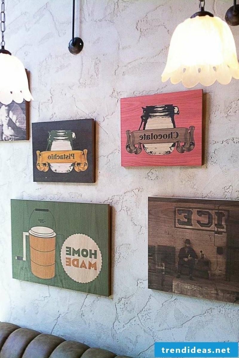 Decorative plaster Retro style Cafe